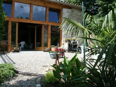 Photo for Les Gîtes Jumeaux with peaceful gardens & cosy barn in rural village