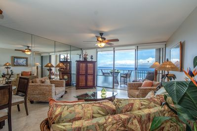 Enjoy the ocean breeze and view from the moment you step inside
