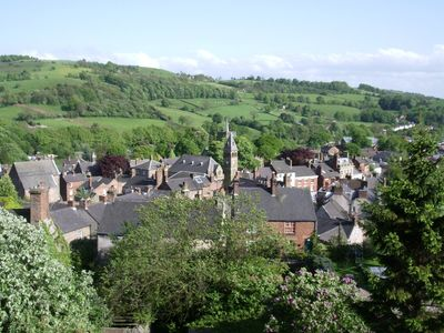 Wirksworth town surrounded by hills