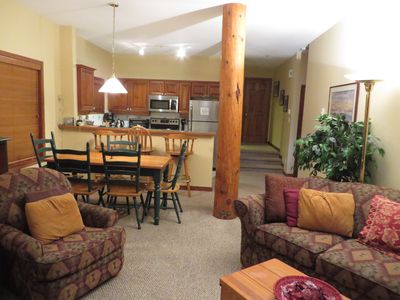 Open Plan with Vaulted Ceiling Designed for Comfortable Lounging & Entertainin