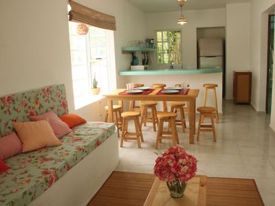 Photo for Cosy and bright JUNGLE VIEW house, walking distance from amazing XCACEL BEACH