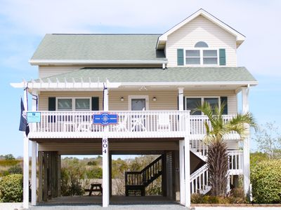 """Photo for """"Latitude Adjustment"""" is a Charming 4 bedroom 2 bath Beach Home with Gorgeous views of the Atlantic Ocean, Marshlands and Intracoastal Waterway!"""