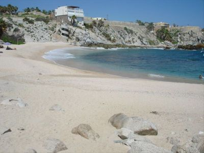 Another view of the private beach at Misiones del Cabo.