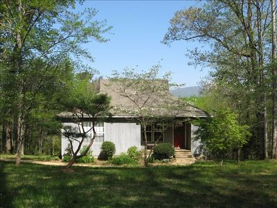 Afton Cottage and the Blue Ridge Mountains