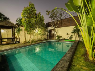 Photo for ✈ 3 Bedroom Private Pool Villa 10 Minutes Drive to Seminyak Beach