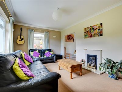 Photo for Ocean Point is a pet-friendly detached bungalow at the top of St Brides Hill in Saundersfoot, just a
