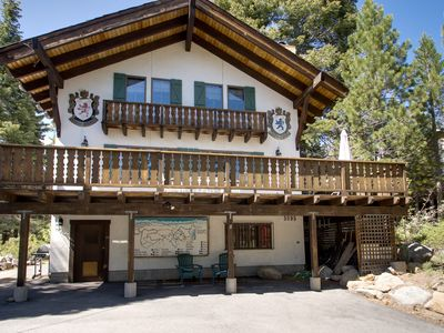 Photo for Charming alpine chalet with a private deck, blocks from trails and Lake Tahoe!