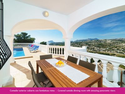 Photo for HOUSE WITH PRIVATE POOL AND FANTASTIC PANORAMIC VIEWS TO THE SEA AND THE MOUNTAIN