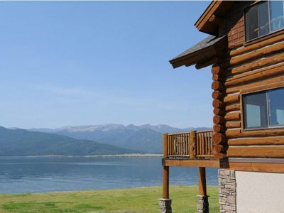 Photo for Luxury Lake Front Log Home (Menlo Place) Minutes From Yellowstone Park