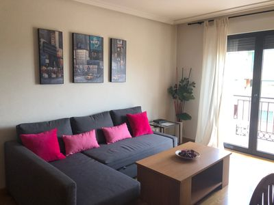 Photo for Valhondo apartment, comfortable and bright with green area and playground