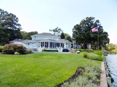 Photo for 0198 SALISBURY on the LAKE. Waterfront, Pool, Hot Tub, Dock. Your Chesapeake Bay Family Getaway!