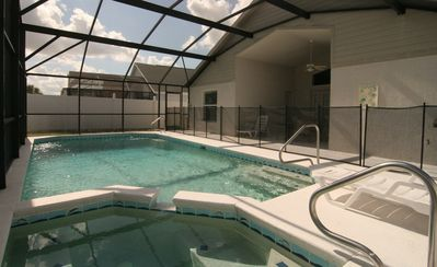 Soak-up the Florida sun in our Oversized, Southeast facing pool. Fenced Yard.