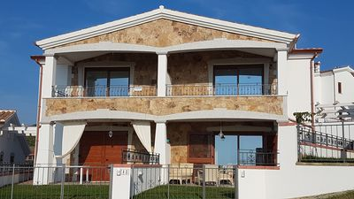 Photo for LA CALETTA NUOVIS INDEPENDENT HOUSE SEA VIEW 500MT FROM THE BEACH -GIRASOLE-