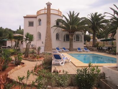 Photo for Secluded detached holiday villa with private pool