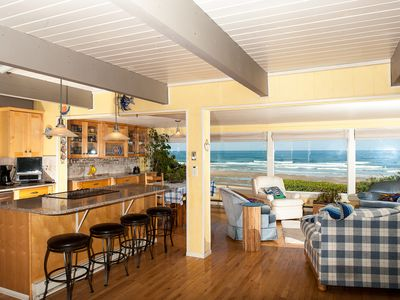 Photo for Enjoy this Pet Friendly Oceanfront Home w/ Hot Tub in Roads End Today!