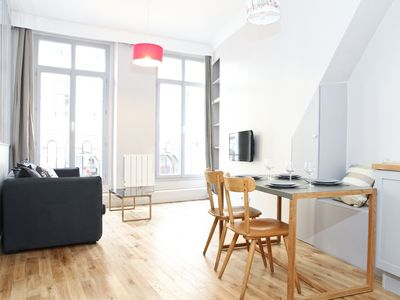 Photo for Lovely 2BR Flat with Balcony Steps from the Louvre
