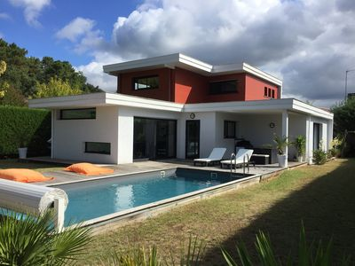 Photo for Architect's villa with heated pool