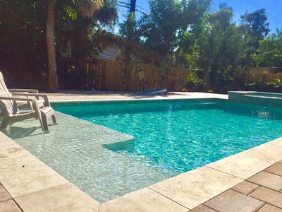 Photo for WOW! Pool & Jacuzzi, Pool Table, 3 Kayaks, 4 Bikes, 4 TV, Fishing & Near BEACH!