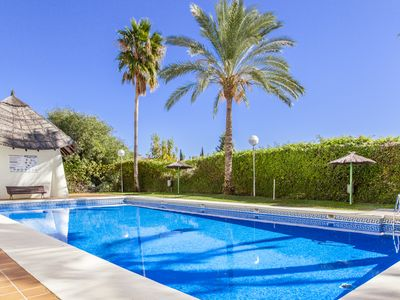 Photo for Cubo's Apartamento Arenal Golf with terrace, free wifi, garden and several community pools.