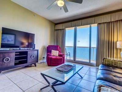 Photo for Walk to Pier Park! Gulf View From 22nd Floor! Pools & Tiki Bar!