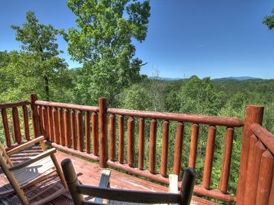 Photo for Beautiful log Cabin w/great view & Wi-fi minutes from Gatlinburg & Dollywood