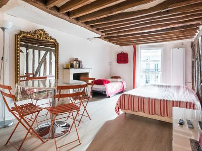 Photo for Cosy studio for 3 persons with nice balcony, situated in Saint Germain, 6th area