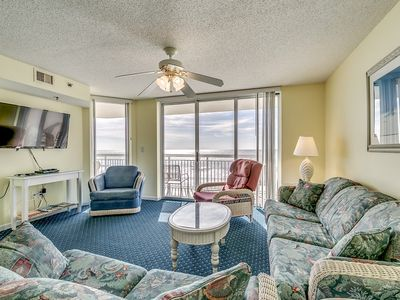 Photo for Oceanfront Beach Chic Condo, Jacuzzi Tub, Outdoor Pool | Crescent Shores - N 302