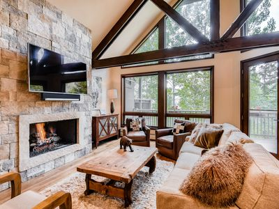 Photo for Luxe Lodge - Slopeside Ski-in 3Br 4Ba with Holidays Open