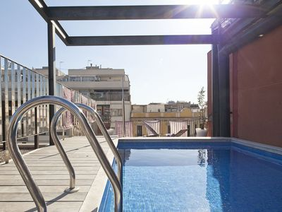 Photo for Apartment Barcelona Rentals - 6 apartments with terrace & pool for up to 48 pax