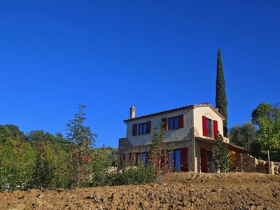 Photo for Private Villa with private pool, A/C, WIFI, patio, panoramic view, parking, close to San Gimignano