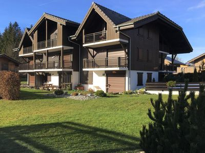 Photo for Peaceful apartment with mountain views, close to the town centre and ski bus