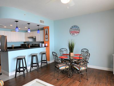 Photo for Calypso Resort, Sleeps 6 w/Free Beach Service & Netflix.  Walk to Pier Park!
