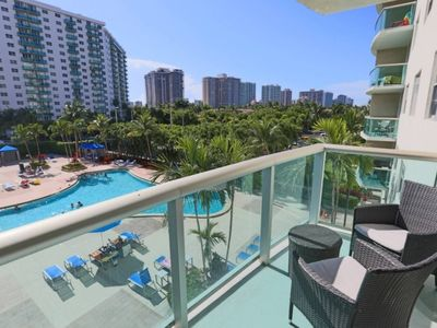 Photo for Classy 2BR Apt. w/Pool View @Ocean #34AB