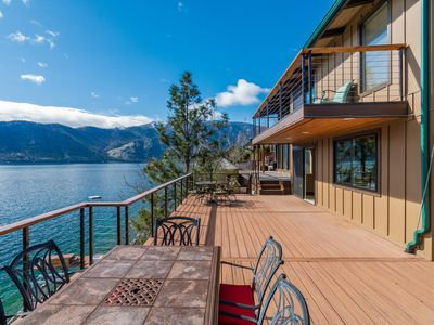 Photo for NEW LISTING! Bright & dog-friendly lakefront home w/gorgeous views & great deck
