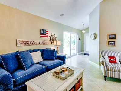 Photo for Stylish island condo w/ private pool & lovely views - walk to the beach!