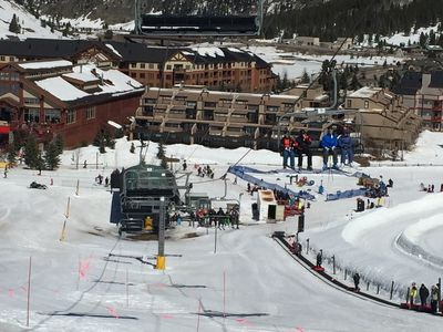 Village Point is right in front of lift and tubing hill, next to day lodge!