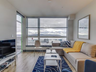 Photo for Stylish, dog-friendly condo at Arthouse w/ private balcony & Puget Sound views!