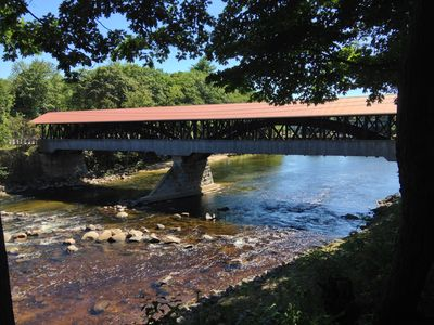 Photo for Conway Home on The Saco River with The Covered Bridge touching your front yard!
