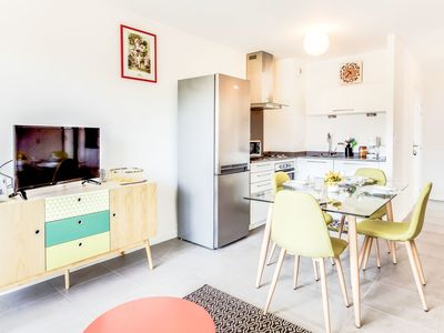 Photo for Cosy apartment for 4 people with WIFI, TV and parking