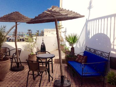 Photo for Private riad with sea views well located in the Medina