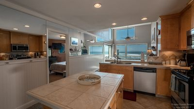 enjoy of the full ocean view from the kitchen!