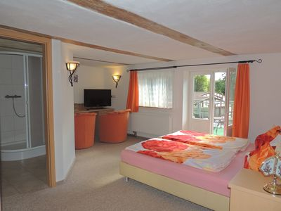 Photo for Double room with lake view - Insel-Hotel Dobbertin