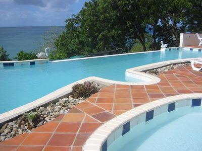 Photo for WELCOME ARC SAILING FAMILIES/ Ocean Front Villa on 3 Acres - 50' Pool - 410 ft.