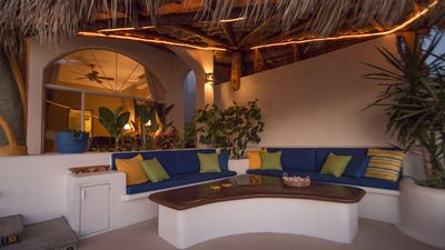 Palapa Outdoor Sitting Area with Firepit