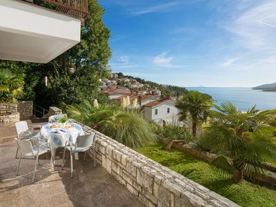 Photo for One bedroom apartment with terrace and sea view Rabac, Labin (A-9653-b)