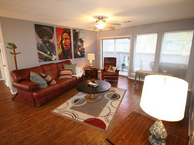 Photo for Stay in a classically designed apt near ORU, exercise trails, and restaurants!