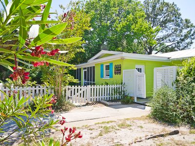 Photo for Key LIme Parrot c1936! Screened Porch 2 blocks to Beach. Outdoor shower!