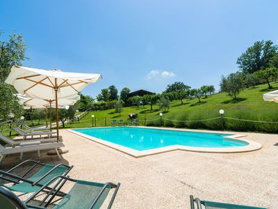 Photo for Farmhouse in hilly area, swimming pool and panoramic terrace