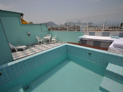 Photo for Penthouse with pool, Aparthotel, Sea View Copacabana and Ipanema