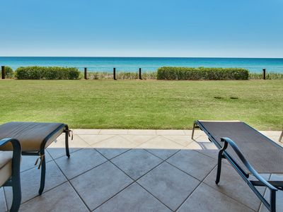 Photo for Adagio A102 Ground floor gulf front condo 4 bedroom Perfect fit for families!